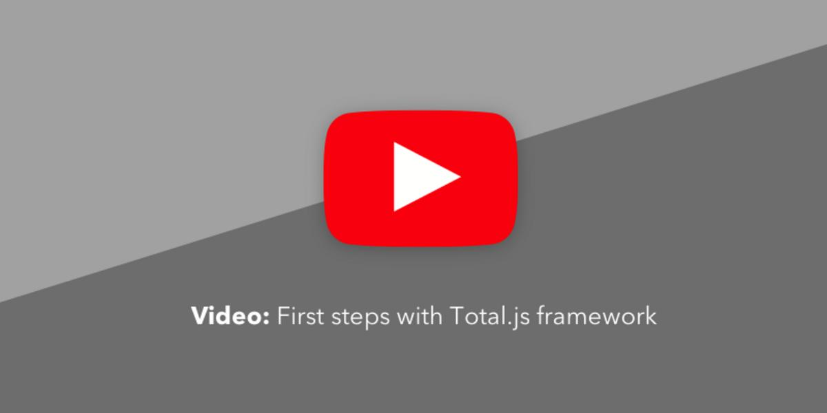 Video: First steps with Total.js