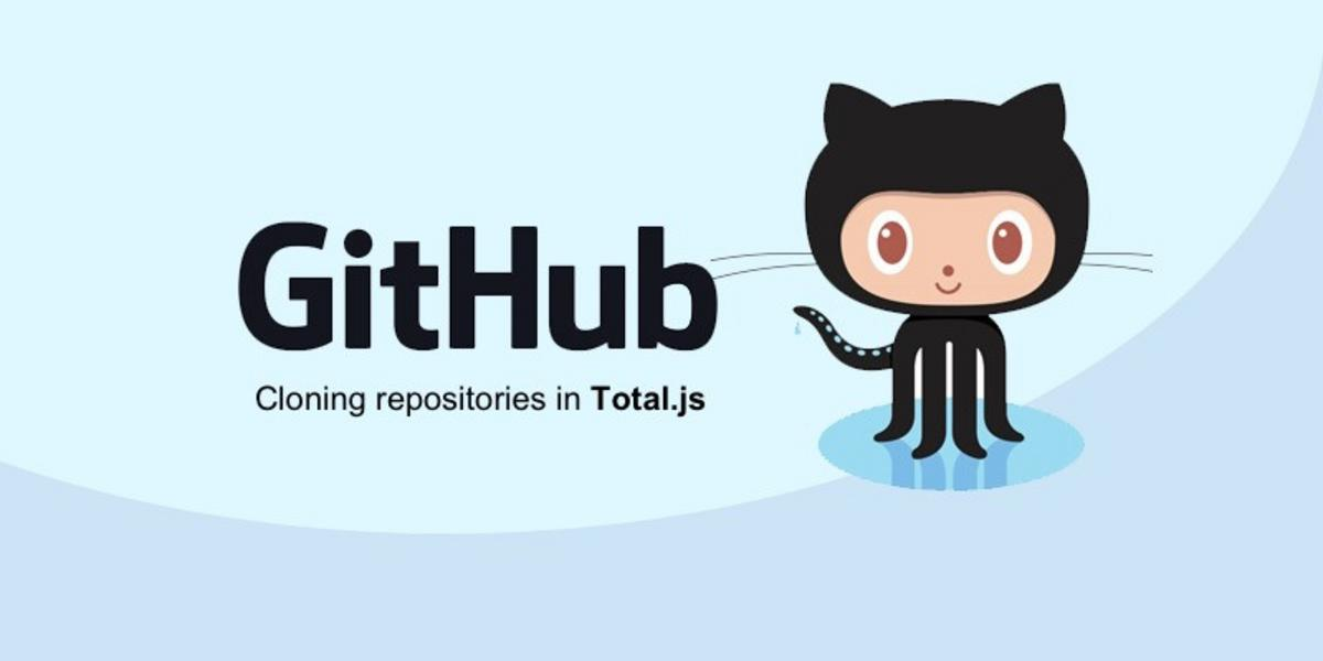 Cloning GitHub repositories with Total.js