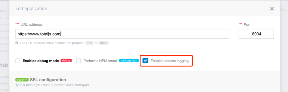 Nginx access logging