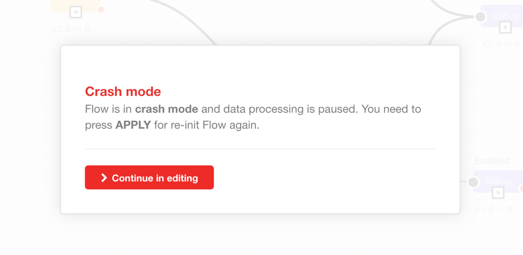 Flow crash-mode