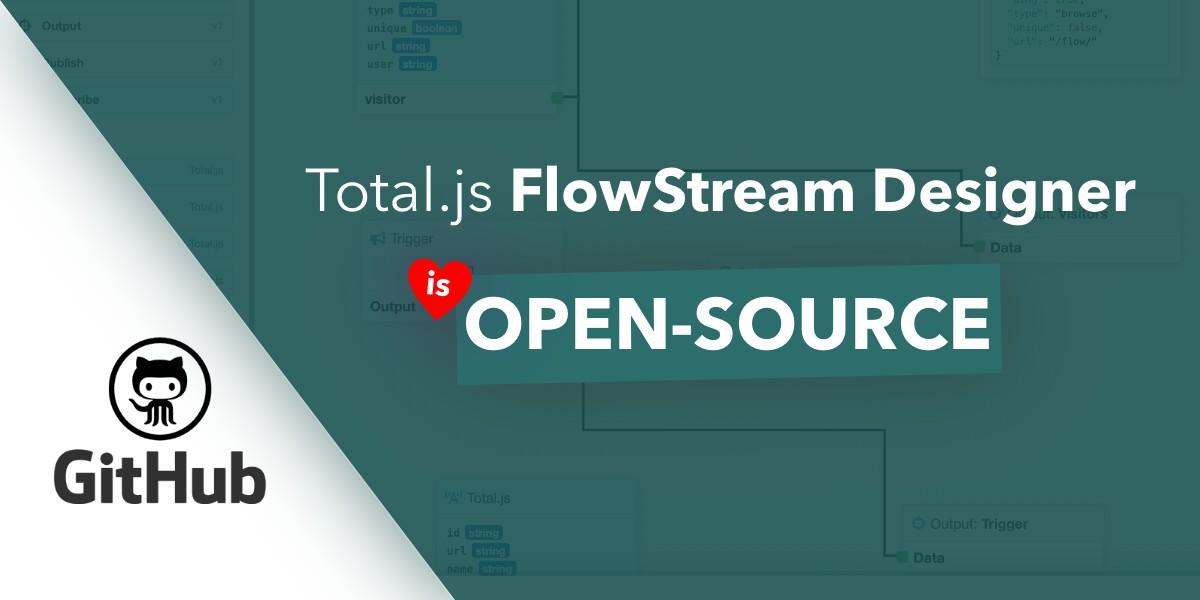 Total.js FlowStream Designer is now open-source